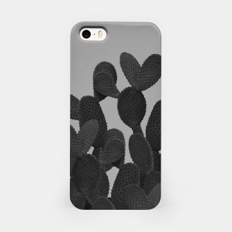 Miniaturka Gray Black Cactus #1 #succulent #decor #art  iPhone-Hülle, Live Heroes