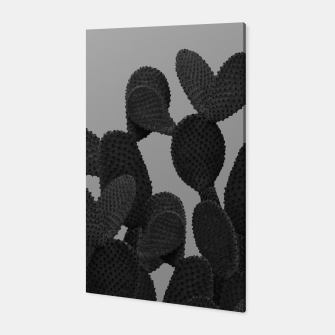 Thumbnail image of Gray Black Cactus #1 #succulent #decor #art  Canvas, Live Heroes