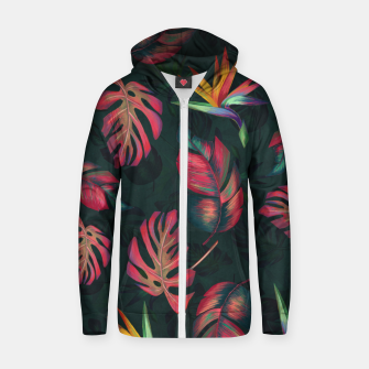 Miniature de image de Tropical Pattern #2 Zip up hoodie, Live Heroes