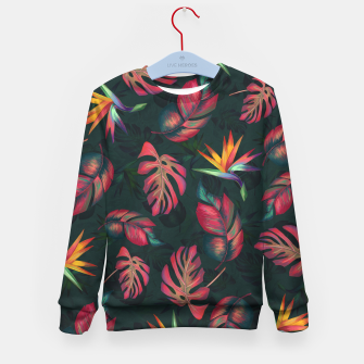 Miniatur Tropical Pattern #2 Kid's sweater, Live Heroes