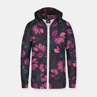 Miniatur Leaves pattern #1 Zip up hoodie, Live Heroes