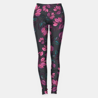 Miniatur Leaves pattern #1 Leggings, Live Heroes
