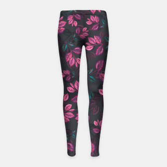 Miniatur Leaves pattern #1 Girl's leggings, Live Heroes