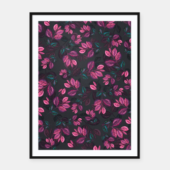 Miniatur Leaves pattern #1 Framed poster, Live Heroes