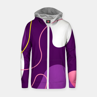 Thumbnail image of Abstract shapes composition modern design Zip up hoodie, Live Heroes