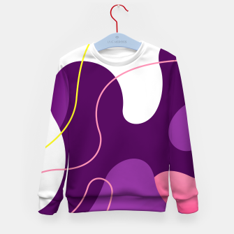 Thumbnail image of Abstract shapes composition modern design Kid's sweater, Live Heroes