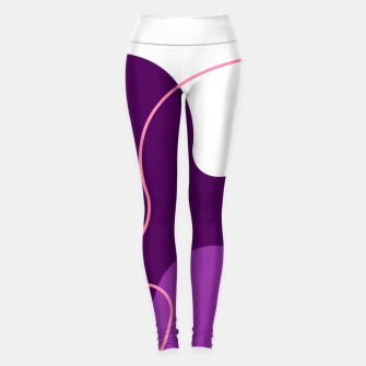 Thumbnail image of Abstract shapes composition modern design Leggings, Live Heroes