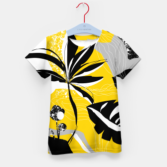 Miniaturka abstract tropical plants Kid's t-shirt, Live Heroes