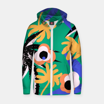 Miniature de image de ethnic tropical plants Zip up hoodie, Live Heroes