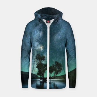 Thumbnail image of Tree Stars Zip up hoodie, Live Heroes