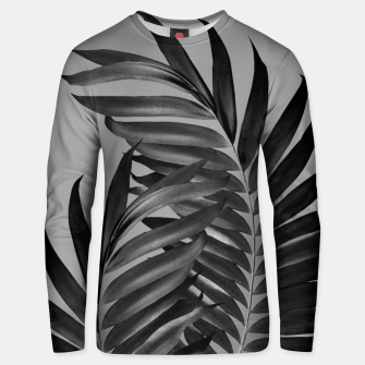 Thumbnail image of Palm Leaves Gray Black Vibes #1 #tropical #decor #art Unisex sweatshirt, Live Heroes