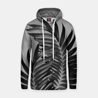 Thumbnail image of Palm Leaves Gray Black Vibes #1 #tropical #decor #art Kapuzenpullover, Live Heroes