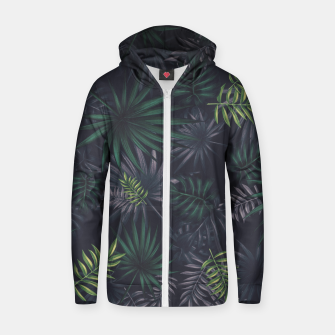 Miniature de image de Leaves pattern #2 Zip up hoodie, Live Heroes