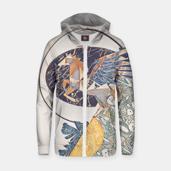 Thumbnail image of Marble pegasus Zip up hoodie, Live Heroes