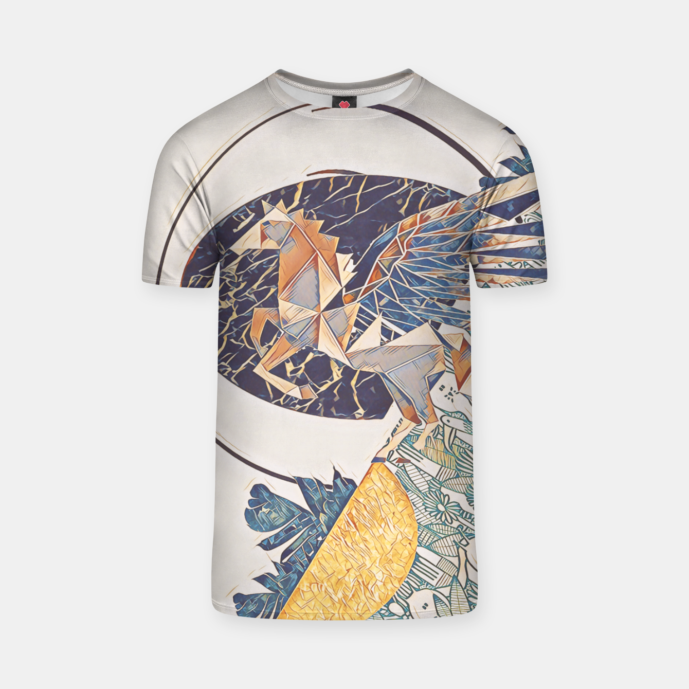 Image of Marble pegasus T-shirt - Live Heroes