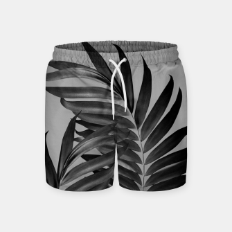Thumbnail image of Palm Leaves Gray Black Vibes #1 #tropical #decor #art Badeshorts, Live Heroes