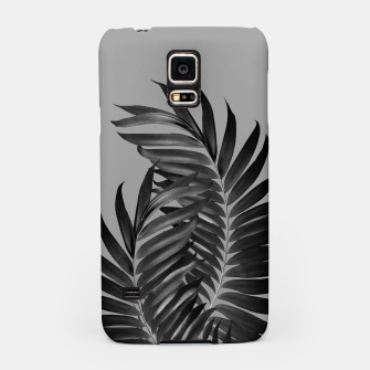 Thumbnail image of Palm Leaves Gray Black Vibes #1 #tropical #decor #art Handyhülle für Samsung, Live Heroes