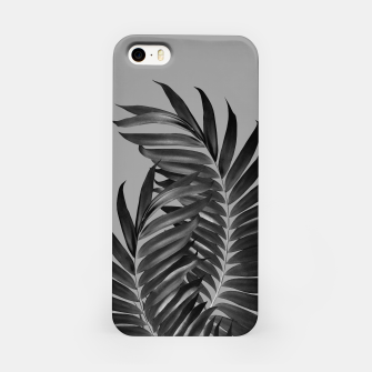 Thumbnail image of Palm Leaves Gray Black Vibes #1 #tropical #decor #art iPhone-Hülle, Live Heroes