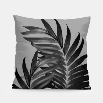 Thumbnail image of Palm Leaves Gray Black Vibes #1 #tropical #decor #art Kissen, Live Heroes