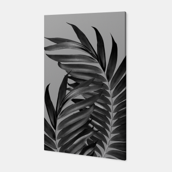 Thumbnail image of Palm Leaves Gray Black Vibes #1 #tropical #decor #art Canvas, Live Heroes