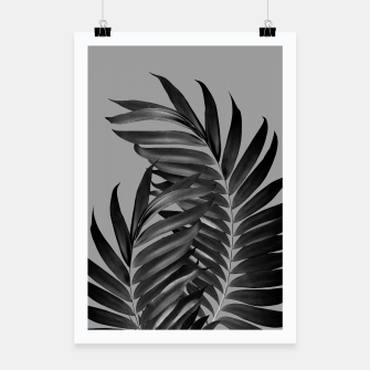 Thumbnail image of Palm Leaves Gray Black Vibes #1 #tropical #decor #art Plakat, Live Heroes