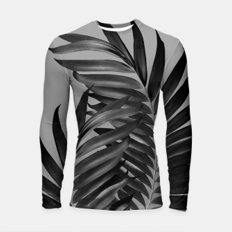 Thumbnail image of Palm Leaves Gray Black Vibes #1 #tropical #decor #art Longsleeve rashguard, Live Heroes
