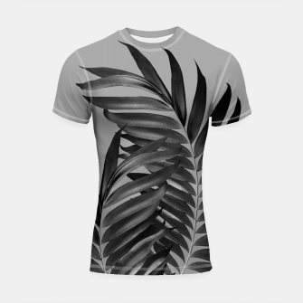Thumbnail image of Palm Leaves Gray Black Vibes #1 #tropical #decor #art Shortsleeve rashguard, Live Heroes