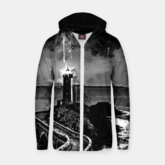 Miniature de image de lighthouse plouzane wsbw Zip up hoodie, Live Heroes