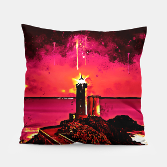 Miniature de image de lighthouse plouzane wsor Pillow, Live Heroes