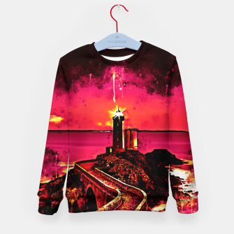 Miniature de image de lighthouse plouzane wsor Kid's sweater, Live Heroes