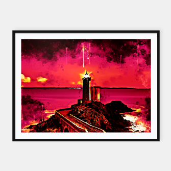 Thumbnail image of lighthouse plouzane wsor Framed poster, Live Heroes