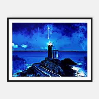 Thumbnail image of lighthouse plouzane wsstd Framed poster, Live Heroes