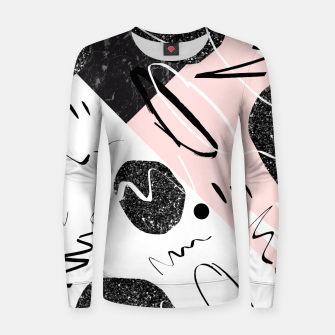 Thumbnail image of Gray Black Marble Blush White Abstract Glam #1 #trendy #decor #art Frauen sweatshirt, Live Heroes