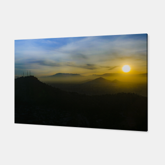 Thumbnail image of Sunset Scene Santiago de Chile Aerial View  Canvas, Live Heroes