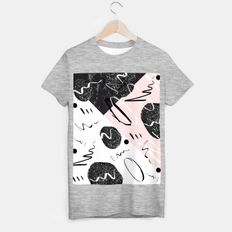 Thumbnail image of Gray Black Marble Blush White Abstract Glam #1 #trendy #decor #art T-Shirt regulär, Live Heroes