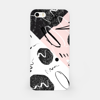 Thumbnail image of Gray Black Marble Blush White Abstract Glam #1 #trendy #decor #art iPhone-Hülle, Live Heroes
