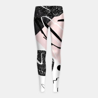 Thumbnail image of Gray Black Marble Blush White Abstract Glam #1 #trendy #decor #art Kinder-Leggins, Live Heroes