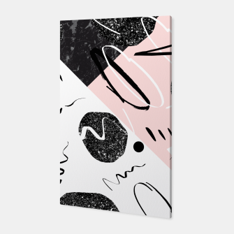 Thumbnail image of Gray Black Marble Blush White Abstract Glam #1 #trendy #decor #art Canvas, Live Heroes