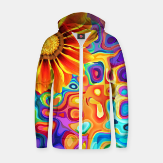 Thumbnail image of Blossom Zip up hoodie, Live Heroes