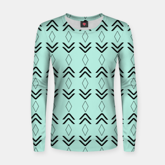 Thumbnail image of Tribal Pattern Aztec #3 #minimal #decor #art  Frauen sweatshirt, Live Heroes