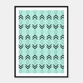 Thumbnail image of Tribal Pattern Aztec #3 #minimal #decor #art  Plakat mit rahmen, Live Heroes