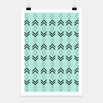 Thumbnail image of Tribal Pattern Aztec #3 #minimal #decor #art  Plakat, Live Heroes