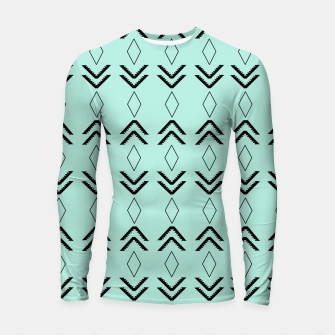 Thumbnail image of Tribal Pattern Aztec #3 #minimal #decor #art  Longsleeve rashguard, Live Heroes