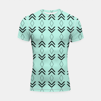 Thumbnail image of Tribal Pattern Aztec #3 #minimal #decor #art  Shortsleeve rashguard, Live Heroes