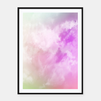 Miniatur Raibow clouds Framed poster, Live Heroes