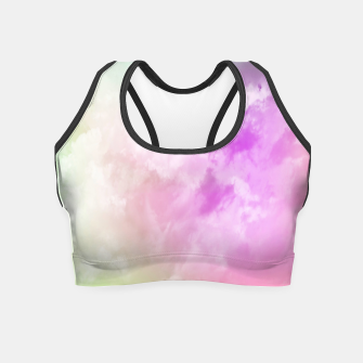Thumbnail image of Raibow clouds Crop Top, Live Heroes
