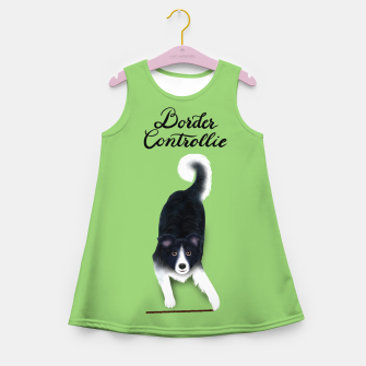 Thumbnail image of Border Controllie (Green) Girl's summer dress, Live Heroes