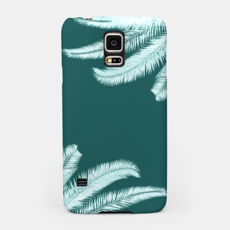 Miniatur Palm leaves on teal Samsung Case, Live Heroes