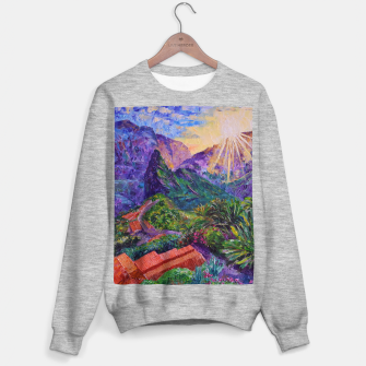 Thumbnail image of Sunset in green mountains Sweater regular, Live Heroes