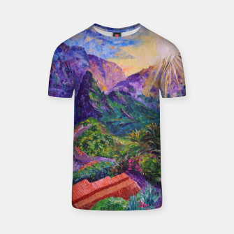 Thumbnail image of Sunset in green mountains T-shirt, Live Heroes